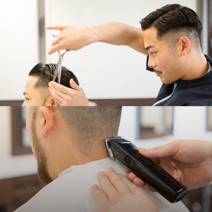 Barberフェードスタイル